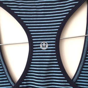 Lululemon cool racerback blue stripes tank authent